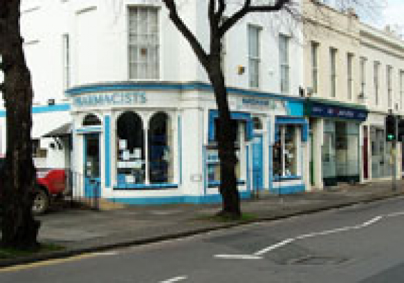 Pittville old shop front