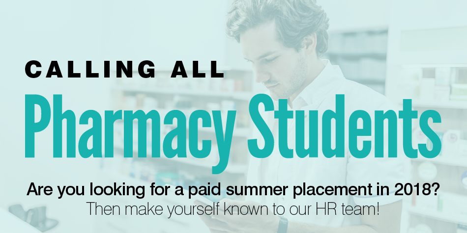 Summer Placements for Pharmacy Students (2018)